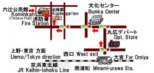 六辻公民館地図